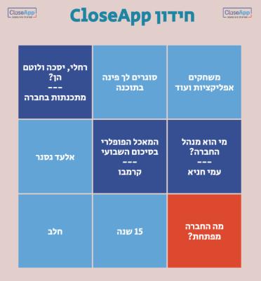 משחק טרוויה חינוכי HTML5 closeApp ZIM מותאם דסקטופ