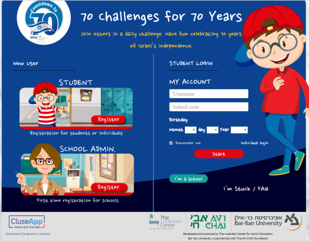 70 Challenges for 70 Years closeapp