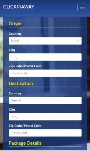 """שילוח דרך Click N Away פשוט וזול לשלוח חבילות לחו""""ל"""