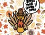 כרטיס ברכה דיגיטלי – כרטיס גירוד לחג ההודיההאמריקאי